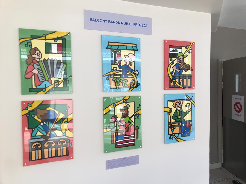 The paintings displayed at George Hospital