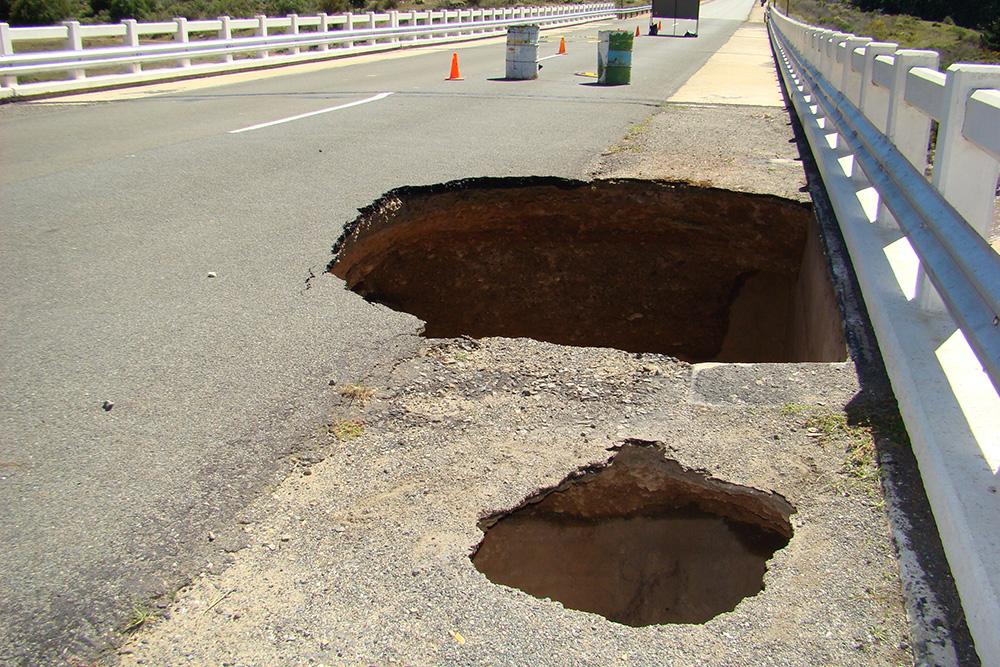 Uniondale Road Damage
